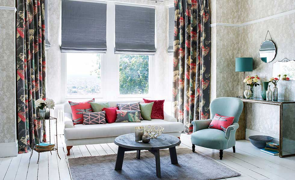 . Focus on window treatments  roller and Roman blinds   Real Homes
