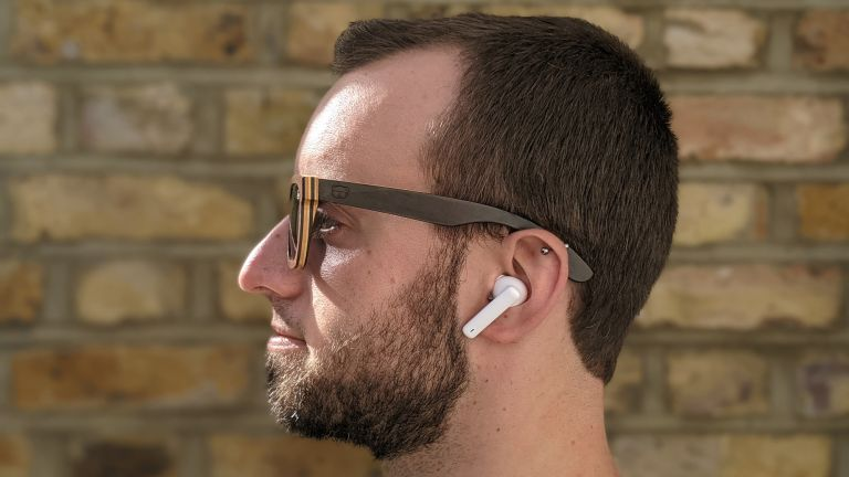Fit&Well's James Frew wearing the Honor Earbuds 2 Lite wireless earbuds