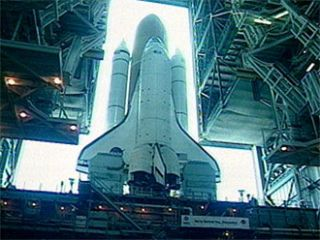 Space Shuttle Discovery Reaches its Launch Pad