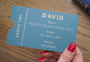 Personalised Wooden Gift Voucher Ticket