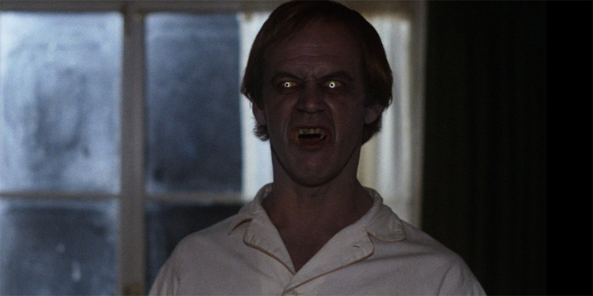 Mike Ryerson as a vampire attacks in Salem's Lot