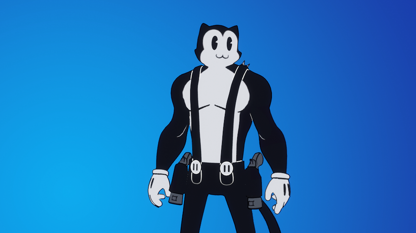Tell me how to feel about this hunky cartoon Fortnite cat