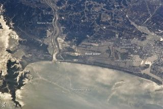 Astronaut photo of the aftermath of the March 11 earthquake and tsunami in Japan. This image was taken on March 13, 2011.