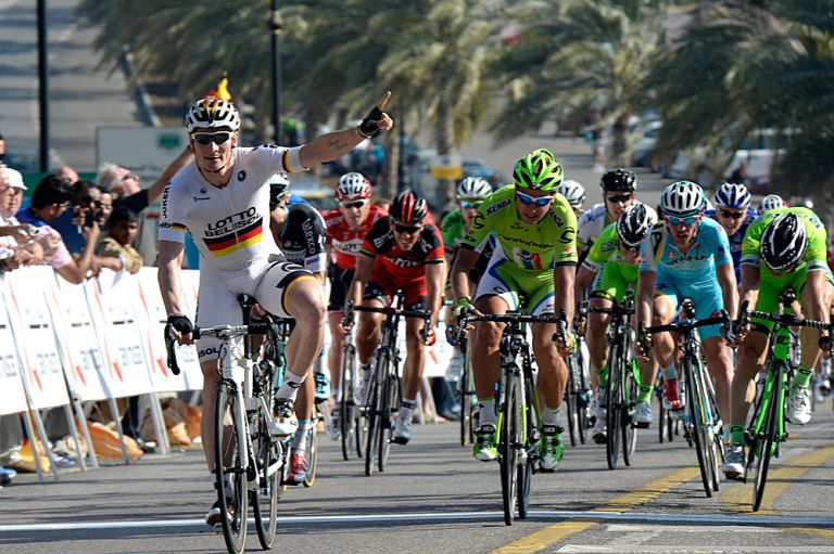 Andre Greipel wins stage three of the 2014 Tour of Oman