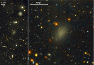 ultra-faint spheroidal galaxy color image