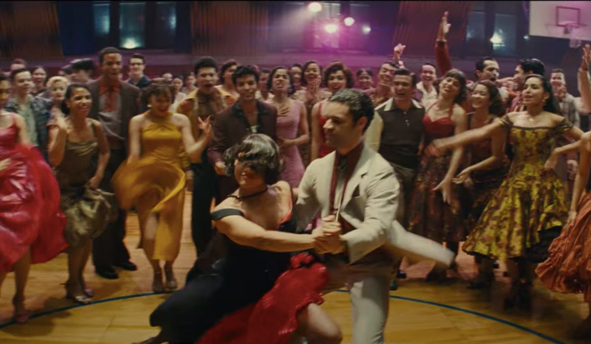 The dance at the school gym in West Side Story.