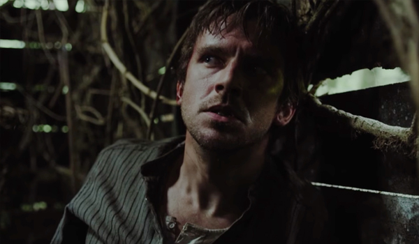 Dan Stevens Apostle Scared in cabin