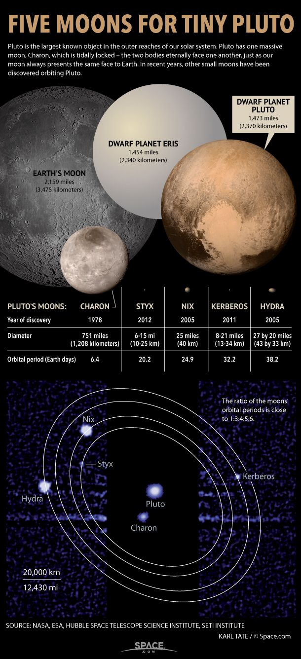 which dwarf planets have moons - 610×1336