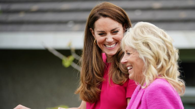 Kate Middleton and Jill Biden in Cornwall