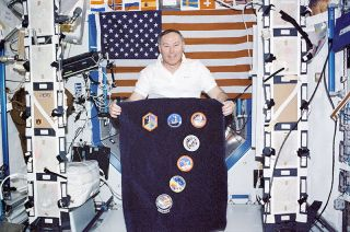 Astronaut Jerry Ross Aboard the International Space Station
