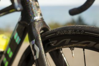 Pirelli P Zero tubeless in use by Mitchelton-Scott