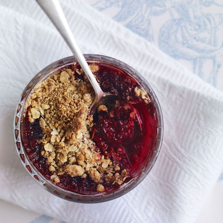 Individual Blackberry Crumbles recipe-Crumble recipes-recipe ideas-new recipes-woman and home
