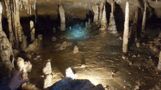 A cave in Indiana where scientists sampled for a study on ancient earthquakes.
