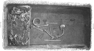 illustration of viking burial
