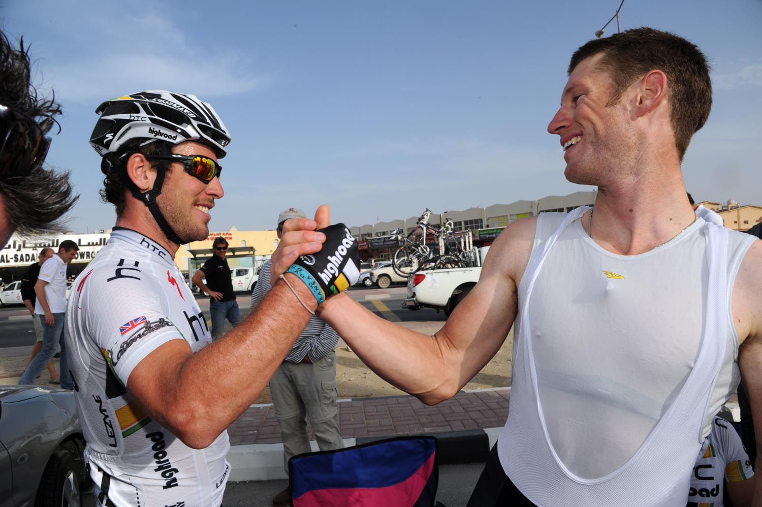 Mark Cavendish and Mark Renshaw, Tour of Qatar 2011, stage four