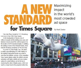 A NEW STANDARD FOR TIMES SQUARE