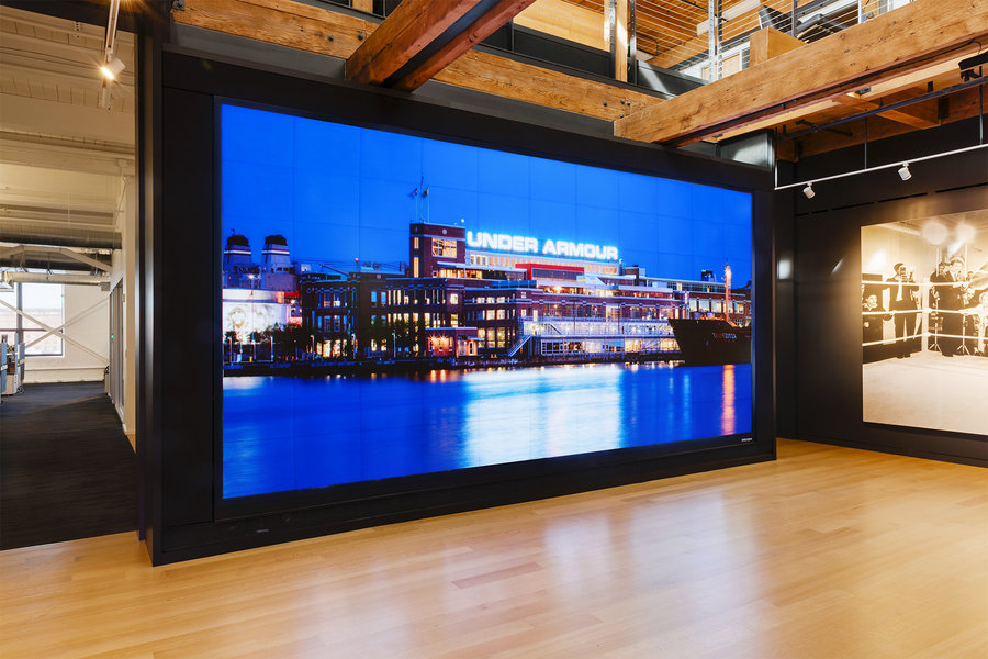 Prysm Video Wall for Under Armour   AVNetwork