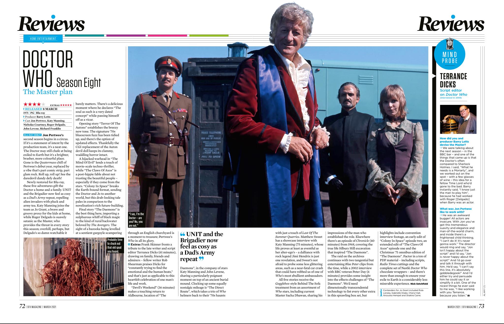 Un vistazo a la octava temporada de Doctor Who del número 337 de SFX.