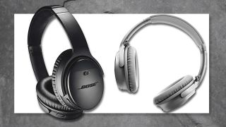A pair of black and silver Bose Quiet Comfort 35 II wireless headphones