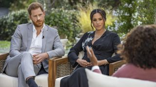 Prince Harry, Meghan Markle and Oprah Winfrey in their epic interview.