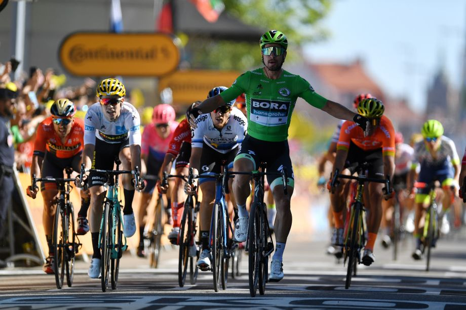 Peter Sagan blasts past rivals to win stage five of Tour de