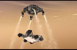 Curiosity's Sky-Crane Maneuver