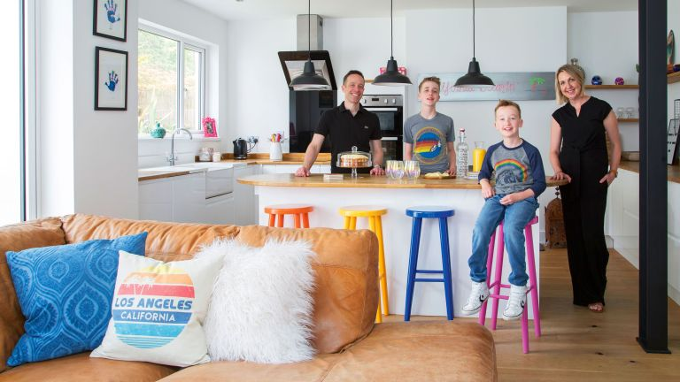 Sally and Owen have extended their 1950s semi in Swansea in colourful style