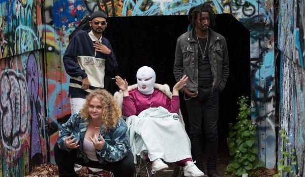 Patti Cakes Patti and her crew pose for the album cover
