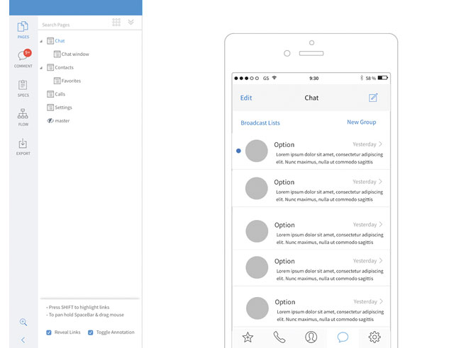 Mockflow interface