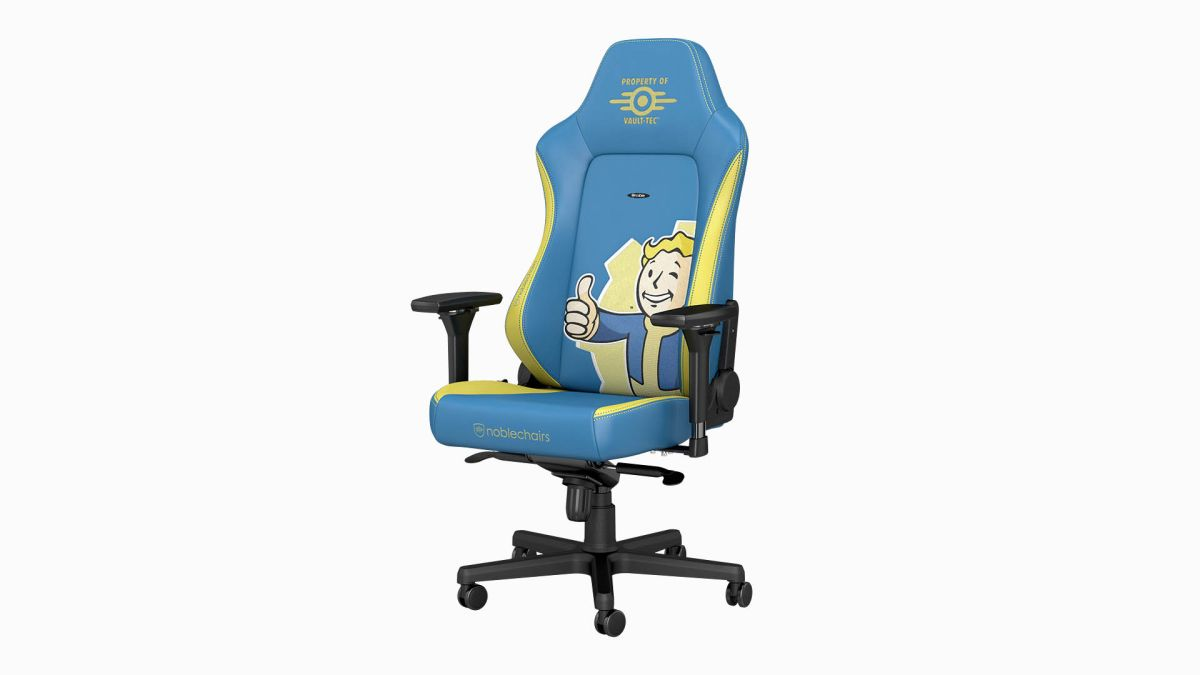 Just sittin' on a Vault Boy… the Fallout gaming chair is now available