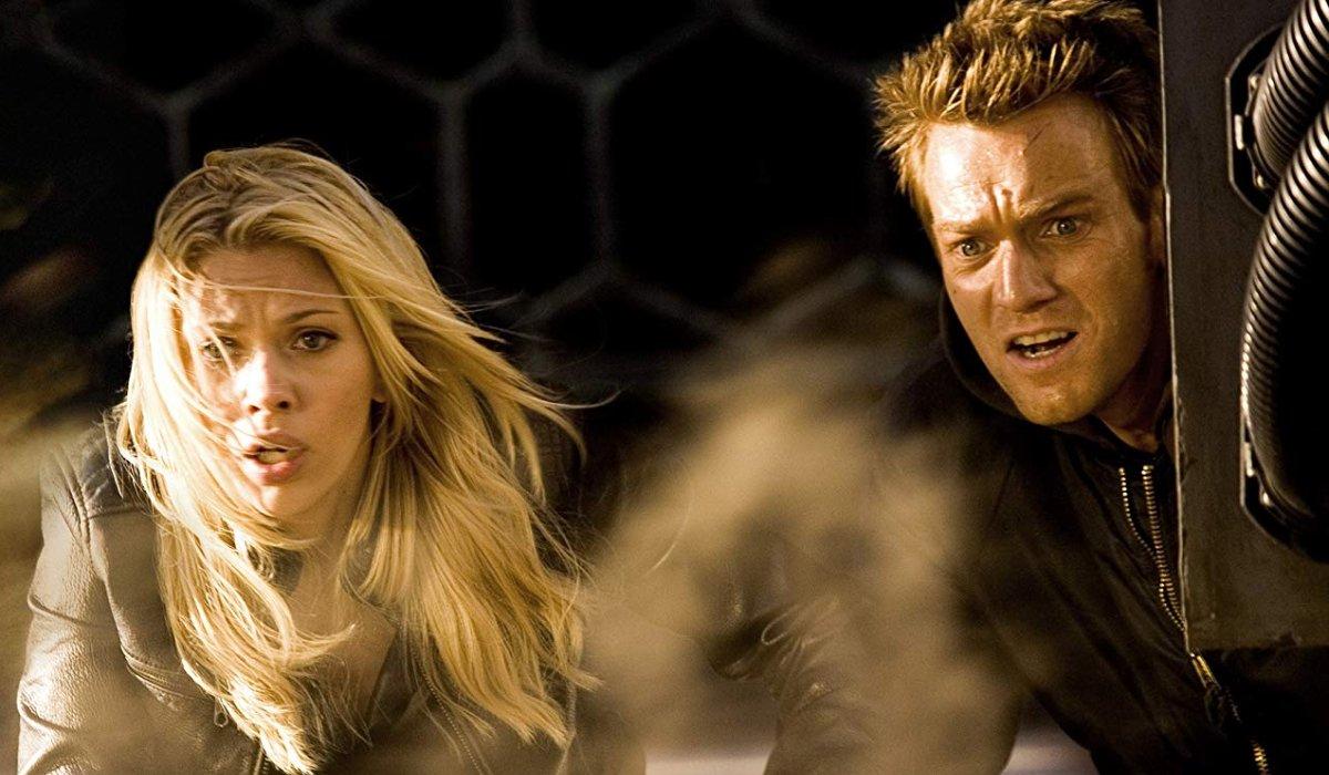 The Island Scarlet Johansson and Ewan McGregor look shocked