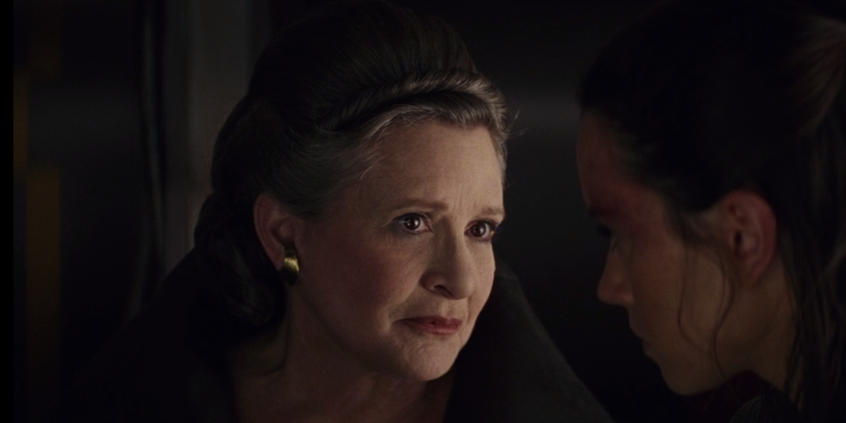 Carrie Fisher in The Last Jedi