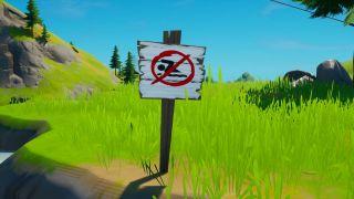 fortnite no swimming sign
