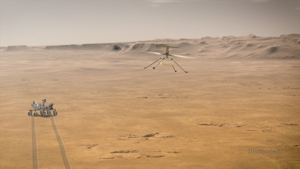 NASA powers up Mars Ingenuity helicopter for the 1st time