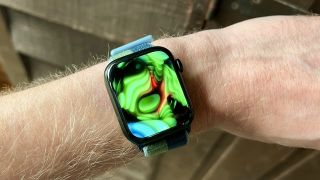 Apple Watch Series 7 images of watch on test