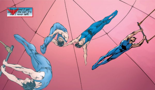 Nightwing Dick Grayson acrobat haly's circus