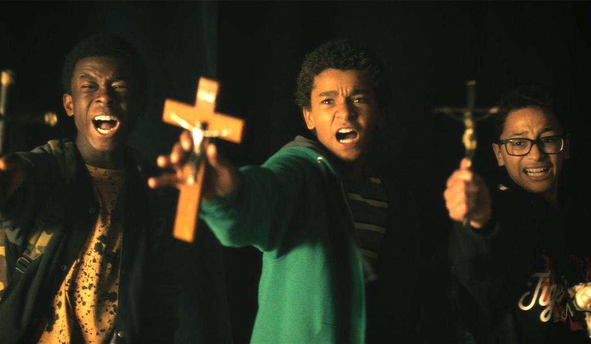 Jaden Michael, Gerald Jones III and Gregory Diaz IV in Vampires vs. the Bronx