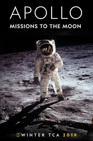 "The poster for ""Apollo: Missions to the Moon."""