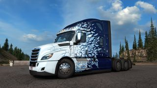 The new Winter Blast paint job available for completing goals in the new Truck Simulator event.