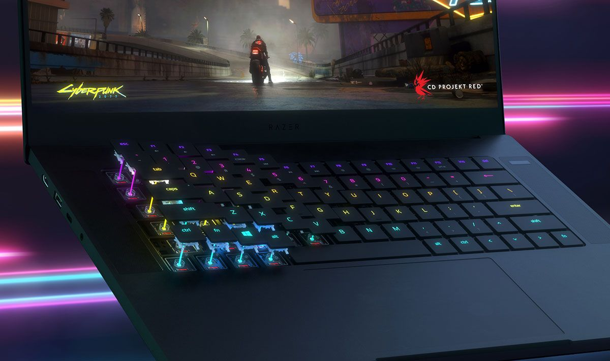 The Razer Blade 15 laptop gets a light update with an optical keyboard