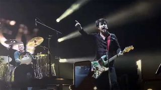 Green Day onstage