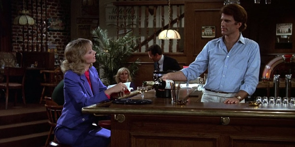 Shelley Long and Ted Danson on Cheers