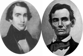 Joshua Speed (left) and Abraham Lincoln