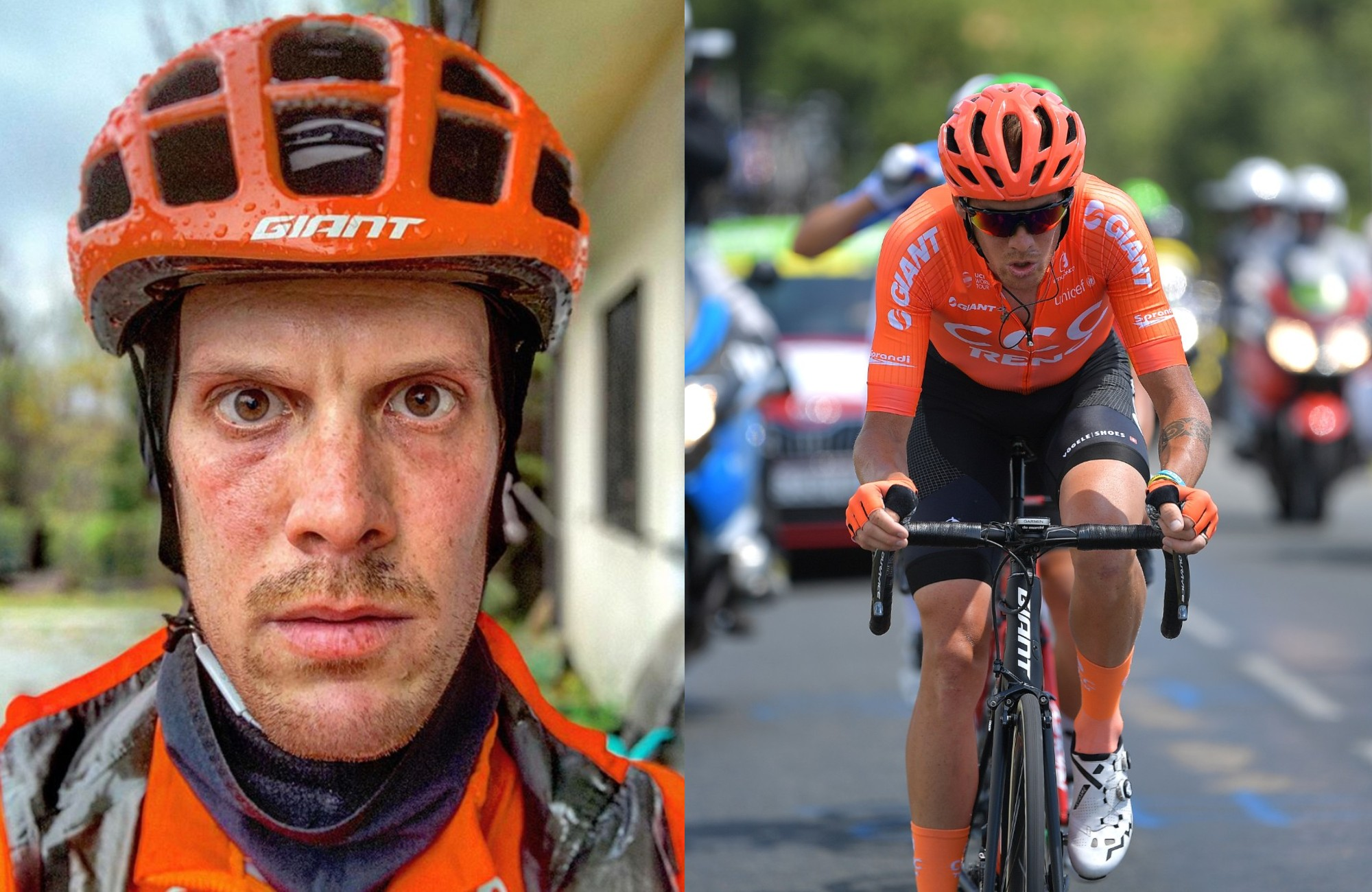 Alessandro De Marchi makes emotional plea to dangerous drivers after near-miss during traning ride