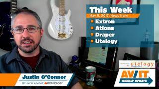 [VIDEO] AV/IT Weekly Update: Atlona Velocity, Draper TecVision CH1200X ALR, Extron MPA 601, Utelogy 2.0