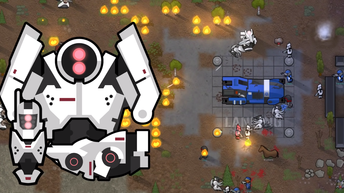 A new mod series adds the trappings of Mass Effect to RimWorld