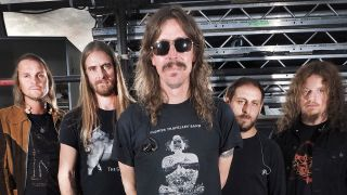 A posed photo of Opeth taken at Bloodstock Festival 2015