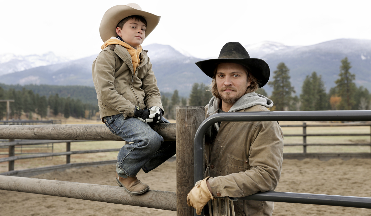 Yellowstone Tate Dutton Brecken Merrill Kayce Dutton Luke Grimes Paramount Network