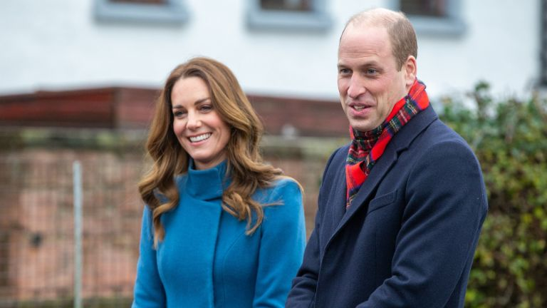 Prince William, Duke of Cambridge and Catherine, Duchess of Cambridge meet staff and pupils from Holy Trinity Church of England First School as part of their working visits across the UK ahead of the Christmas holidays on December 7, 2020 in Berwick-Upon-Tweed, United Kingdom