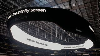 The Infinity Screen by Samsung at Los Angeles' SoFi Stadium